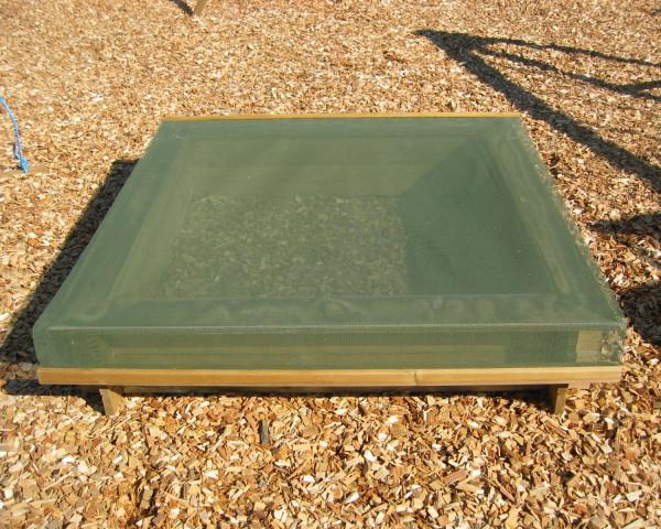 Sandkastennetz Grün auf Sandkasten - bowi.ch