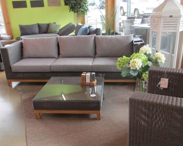 Ausstellmodell Garten Lounge Set Fontana Geflecht Teakholz - bowi.ch