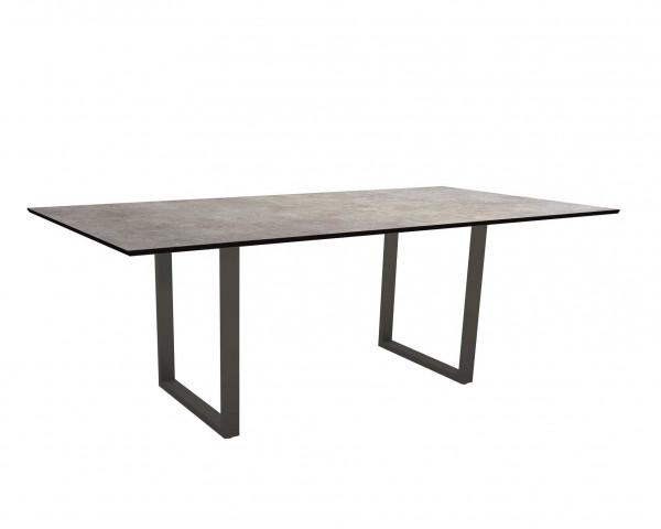 Kufen Gartentisch Miguel HPL 2.0 Platte mit Aluminium Gestell Anthrazit - bowi.ch