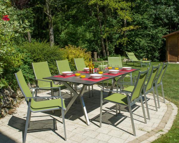 Gartentisch London HPL Karasek Stahl Silber - bowi.ch