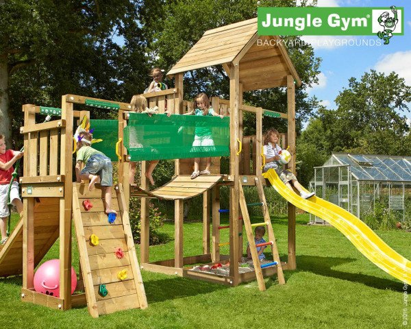Spielturm Palace mit Bridge Modul Jungle Gym - bowi.ch