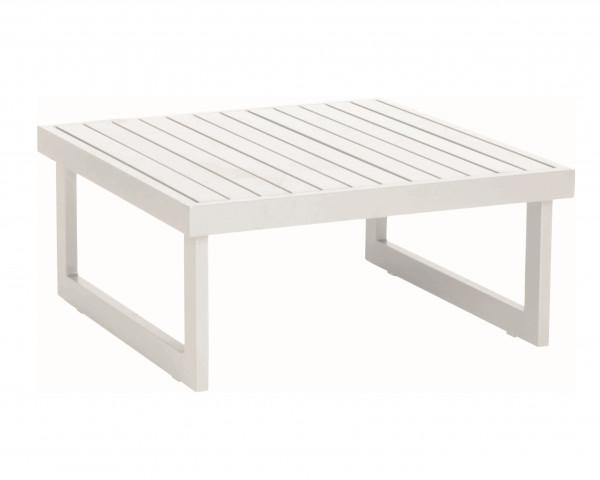 Beistelltisch / Hocker Holly Aluminium Weiss - bowi.ch