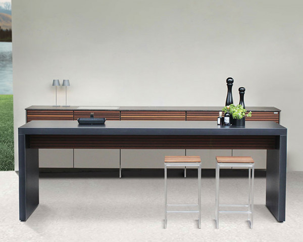 Cubic Kitchen in a Table komplette Ansicht Front - bowi.ch