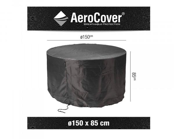 Schutzhülle für Runde Tischgruppe 150 cm Ø AeroCover Anthrazit BOWI - bowi.ch