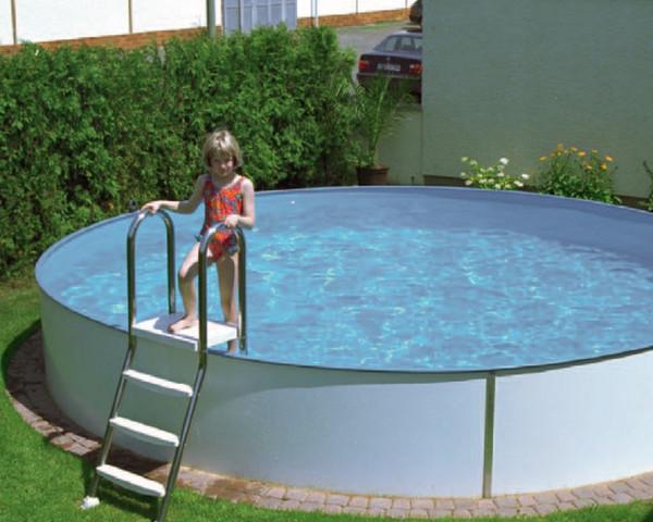 Swimming Pool rund Typ FUN aufgestellt - bowi.ch