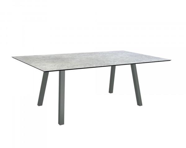Gartentisch Interno Anthrazit Rundrohr HPL Tischplatte 220 x 100 cm - bowi.ch