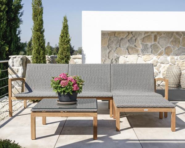 Garten Lounge Set Leah L-Form auf Terrasse - bowi.ch