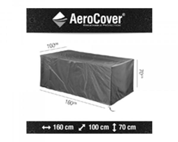 Abdeckung für Gartentisch 160 cm AeroCover Anthrazit BOWI - bowi.ch