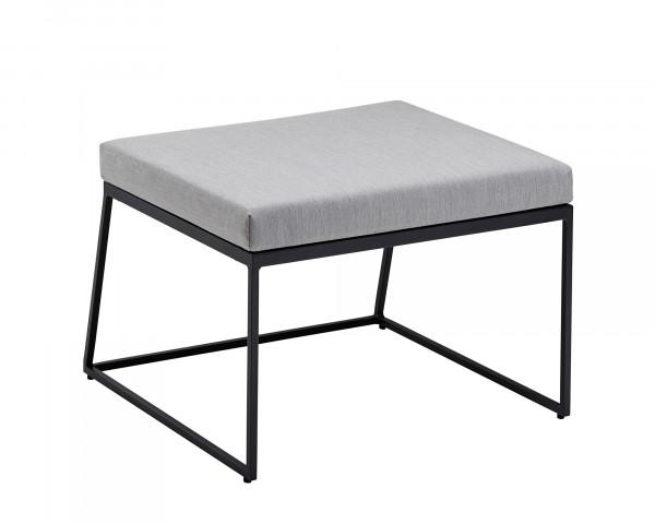 Lounge Corner Hocker Aluminium Anthrazit Kissen Sunbrella® Grau-Gartenmöbel BOWI - bowi.ch