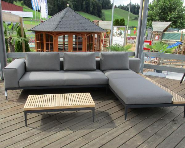 Ausstellmodell Garten Lounge Grid Set Endeinheit Chaiselounge Granite - bowi.ch