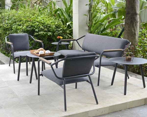 Garten Lounge Laka Set Sessel und Bank wasserfeste Kissen - bowi.ch
