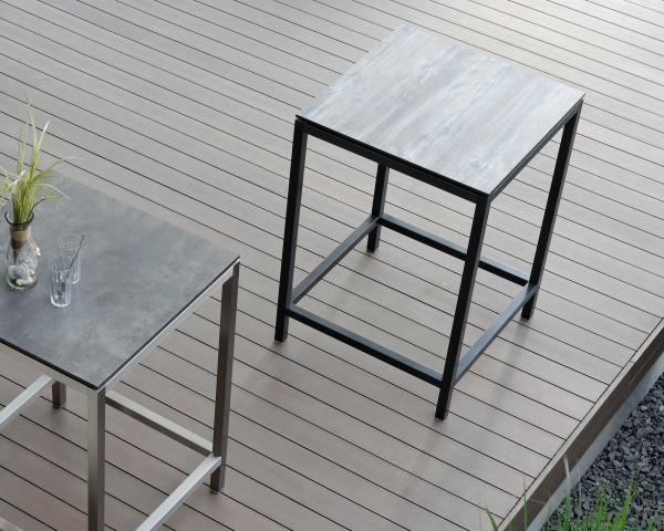 Gartenbar Tisch Alrround Graphit 80 x 80 cm HPL Platte - bowi.ch