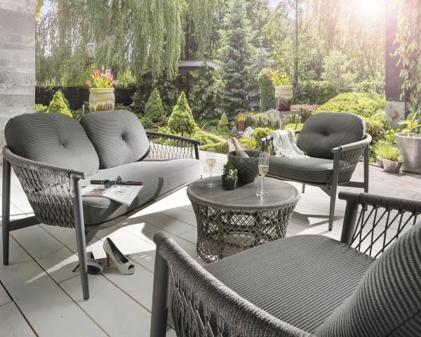 Gartenlounge Set Caracas Schnur Aluminium Gestell Sitzauflage Gartenmöbel BOWI - bowi.ch