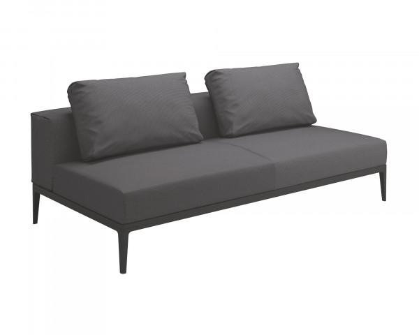Gartenmöbel Lounge Sofa Grid Gloster wasserfeste Kissen Anthracite - bowi.ch