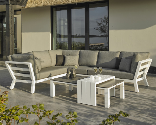 Garten Lounge Set Timber Weiss - bowi.ch