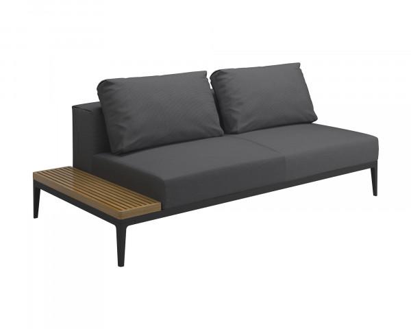 Gartenmöbel Lounge Grid Tischendeinheit links Kleinwasserfeste Kissen Granite Gloster - bowi.ch