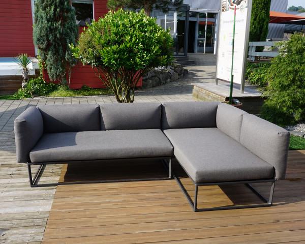 Garten Lounge Maya Gloster L-Form Wasserfest Coal Grau 2-teilig in der Ausstellung - bowi.ch