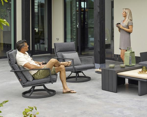 Garten Lounge Sessel Set Maroon drehbar - bowi.ch