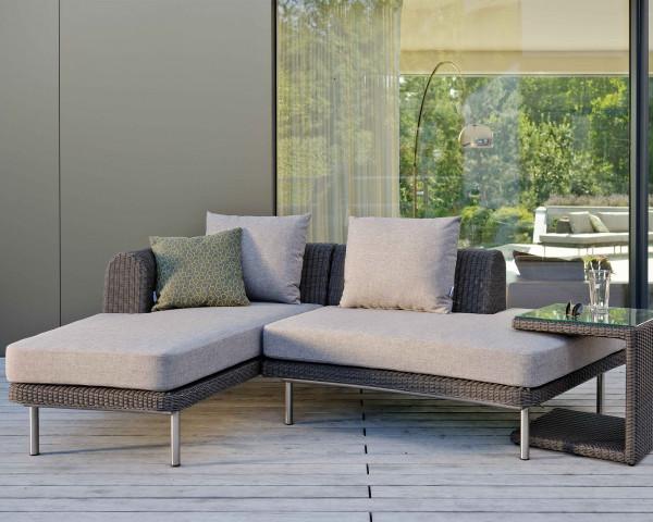 Garten Lounge Viva Stern® Gefelcht Basaltgrau Sitzkissen Grau Meliert auf Terrasse - bowi.ch