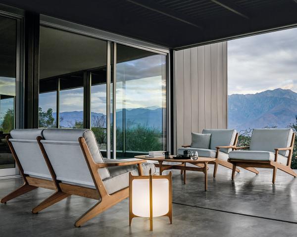 Garten Lounge Bay Set Outdoor Kissen Seagull Teakholz Gestell Gartenmöbel - bowi.ch