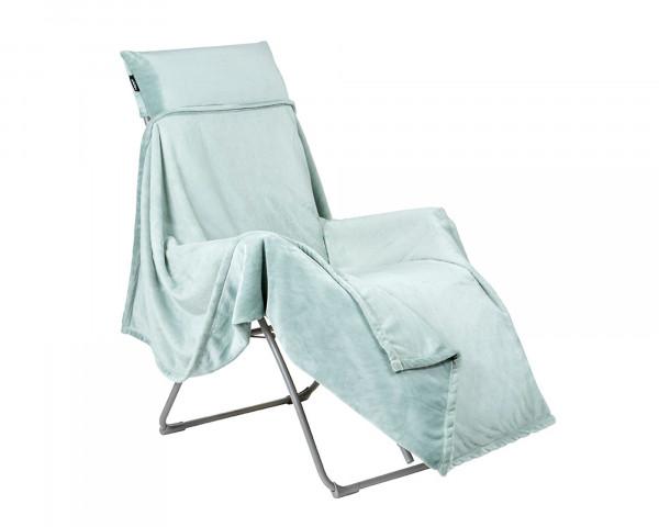 Kuscheldecke Lafuma in Jade auf Liegestuhl Bild Freigestellt - bowi.ch