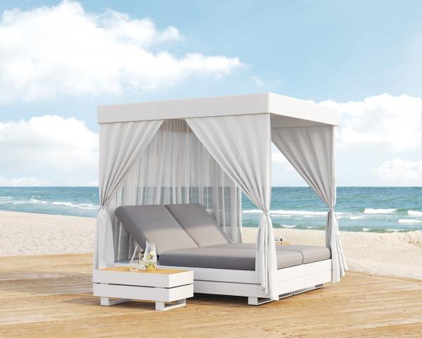 Garten Lounge Boxx Traumbett Weiss am Meer - bowi.ch