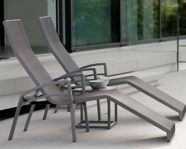 Relaxliege Balance Aluminium Anthrazit Karbon Gartenmöbel BOWI - bowi.ch
