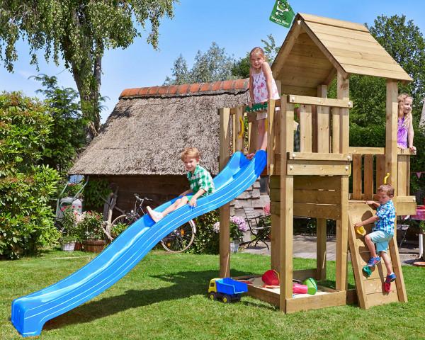 Spielturm Cubby Jungle Gym mit Kletterwand und Rutschbahn - bowi.ch