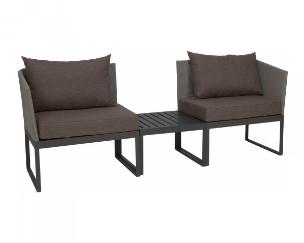 City Lounge Donna verstellbar Gestell Aluminium Taupe - bowi.ch