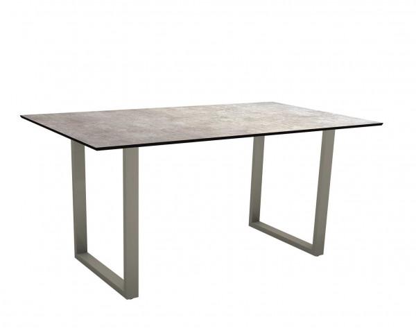 Gartentisch MIGUEL Tischplatte HPL 2.0 Gestell Aluminium Graphit - bowi.ch