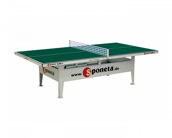Tischtennistisch robust mit Grüner Spielfläche und Metallnetz Weiss - bowi.ch