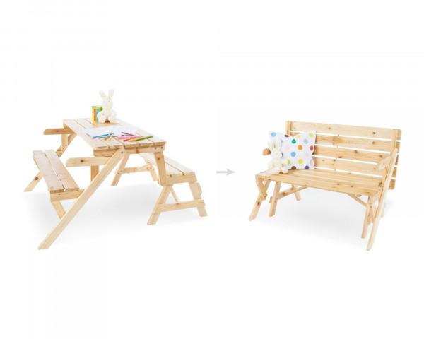2 in 1 Kindersitzgarnitur und Gartenbank Elli - bowi.ch