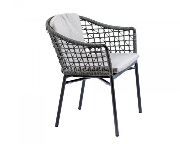 Gartenstuhl Miro geschnürt mit Sitz- und Rückenkissen - bowi.ch