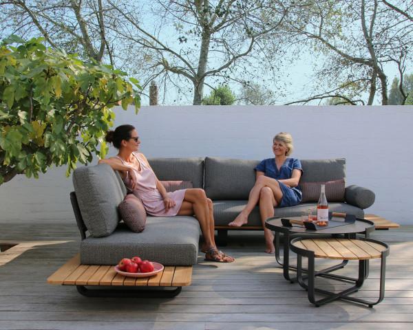 Garten Lounge Park Set L- Form mit Ablagen Zebra - bowi.ch