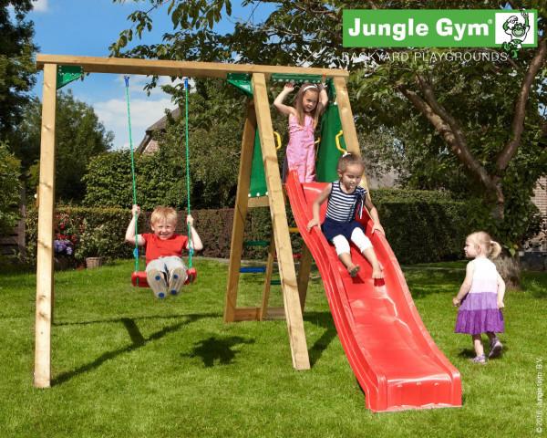 Spielturm Peak Jungle Gym mit Rutschbahn und 1-teilige Schaukel - bowi.ch