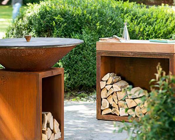 OFYR Feuerring Grill Rost 100 cm Stimmungsbild - bowi.ch