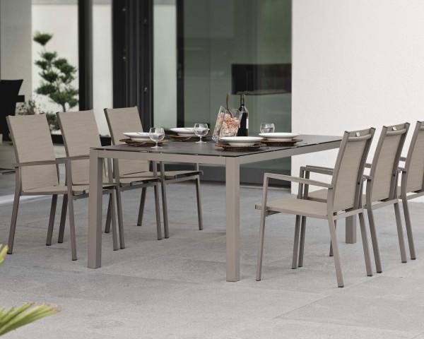 Gartentisch Set New Levanto Allround Tisch Taupe Silverstar 2.0 - bowi.ch