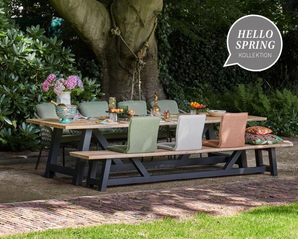 Gartentisch Set Vasta Nappa Teakholz Hello Spring - bowi.ch