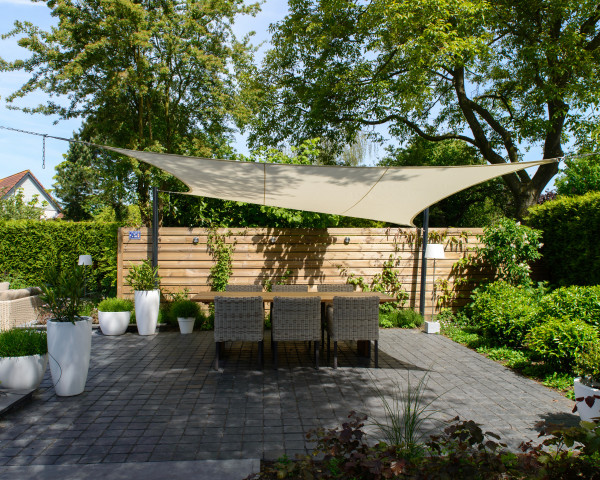 Sonnensegel Coolfit Quadrat Nesling mit Ösen zum Einhängen - bowi.ch