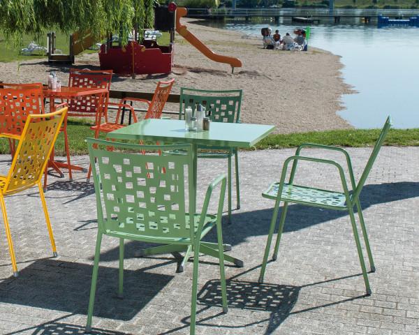 Gartentisch Set Zürich Amsterdam Karasek klappbar Metall Mint Gartenmöbel BOWI - bowi.ch