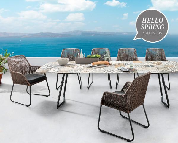 Gartentisch Set Jura Allanis Kreamik Hello Spring - bowi.ch
