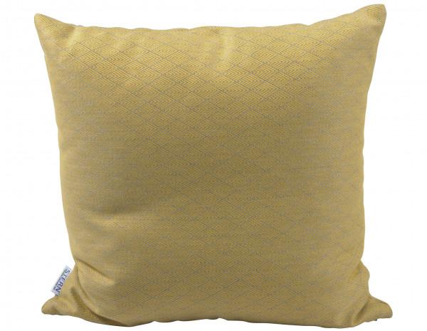 Zierkissen Quadratisch 45 x 45 cm mit Rauten Muster Gelb - bowi.ch