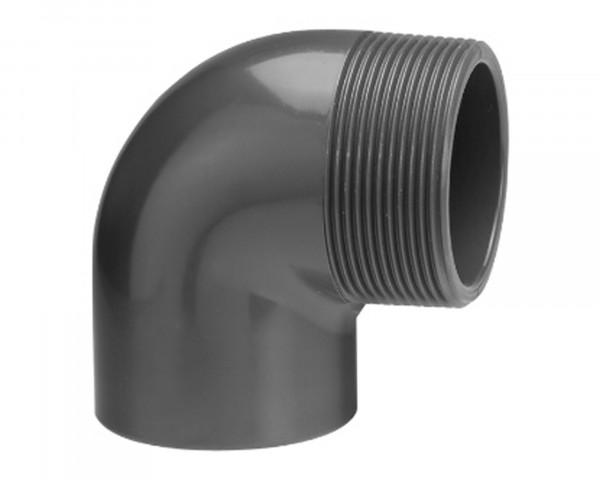 PVC Winkel 90° mit Aussengewinde - bowi.ch