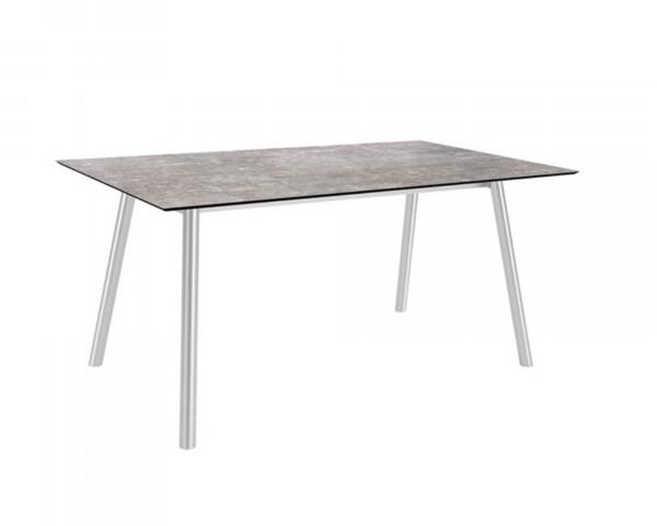 Gartentisch Interno Vierkantrohr Edelstahl HPL Tischplatte 180 x 100 cm - bowi.ch