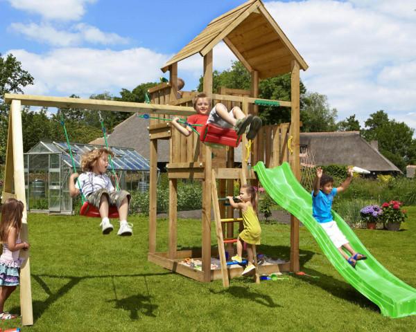 Spielturm Palace Jungle Gym mit Anbauschaukel 2-teilig - bowi.ch