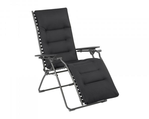 Lafuma Liegestuhl Evolution Be Comfort® freigestellt in der Farbe Dark Grey - bowi.ch