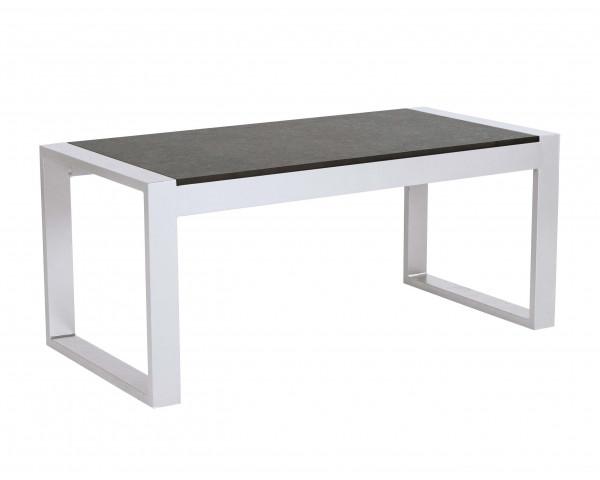 Beistelltisch Allround Holly Aluminium Weiss HPL Einlage Gartenmöbel - bowi.ch