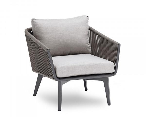 Garten Lounge Sessel Diva geschnürt Aluminium Gestell Anthrazit - bowi.ch