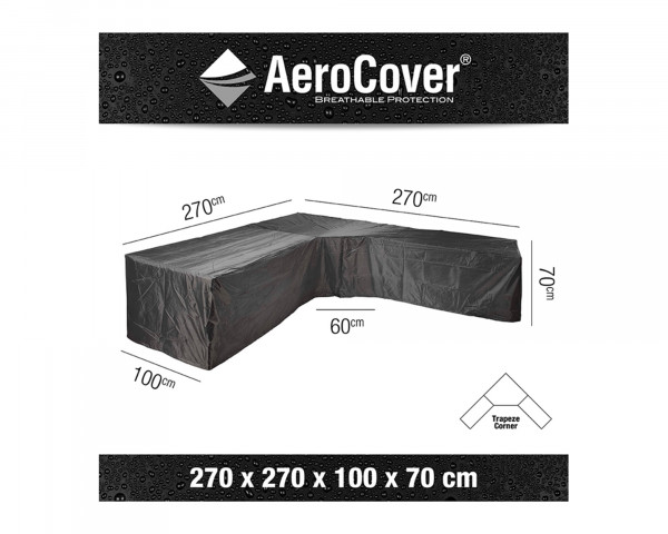 Schutzhülle Gartenmöbel AeroCover® Lounge trapezförmig 270 x 270 x 100 x H 70 cm - bowi.ch