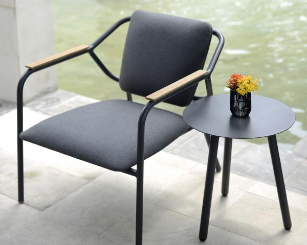 Garten Lounge Sessel Aluminium anthrazit wasserfeste Sitz- und Rückenkissen - bowi.ch